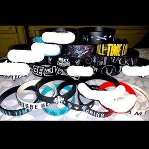 Any 2 for $9 Various Rock+ Rubber Band Bracelets